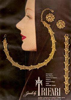 Trifari Golden Bark Ad 1955