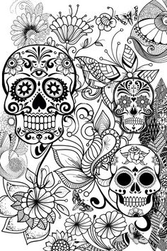 Printable Adult Coloring Pages Skulls Best Of Pin by Barbara On Coloring Skull Mandala Coloring Pages, Coloring Pages To Print, Free Coloring Pages, Coloring Books, Coloring Sheets, Colouring Pages For Adults, Coloring Pages Inspirational, Printable Adult Coloring Pages, Halloween Coloring