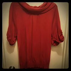 Sweater short sleeve Red soft short sleeve sweater Lane Bryant Tops Blouses