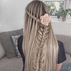 Waterfall and stacked braid combo by Nina Starck