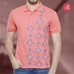 Categorically, Polo-neck tees collection is for the contemporary gentleman characterized by his noble manners and refined tastes. Get this iconic hand painted tshirt from http://bit.ly/1RH9pnr  #Tshirt #male #fashion #men #poloneck #handpainted #buyonline #art