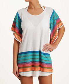 Roxy 'Beach Blanket' Oversized Raglan Cover-Up  #KiwiBeMine