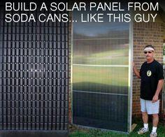 DIY solar panel hot water heater.