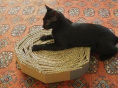 Krabber/krabplank voor de kat (gemaakt van karton).