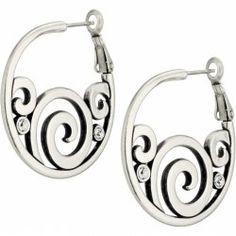 London Groove Post Hoop Earrings By Brighton Jewelry at WilkinsandOlander.com