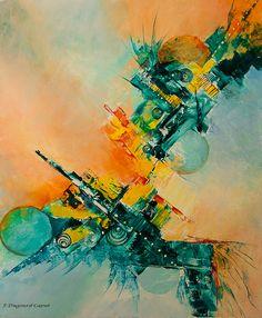 A découvrir au 3ème Salon de Peinture Abstraite en ligne sur www.myrankart.com Edenspace by Françoise Dugourd-Caput