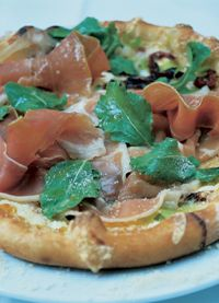Wolfgang Puck Fontina/Arugala/Prosciutto Pizza omg i miss this best place to get this is only in italy =(