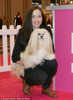 Olympic medal winning cyclist Victoria Pendleton was manning the Eukanuba stand inside the NEC Victoria Pendleton, Celebrity Dogs, Olympic Medals, Wild Hearts, Olympics, Competition, Cycling, Long Hair Styles, Celebrities