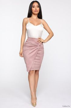 Knot Me Midi Skirt - Mauve – Fashion Nova Fashion Dress Up Games, Fashion Dresses, Skirt Outfits, Sexy Outfits, Fashion Nova Models, Lace Dress, Midi Skirt, High Waisted Skirt, Skirts