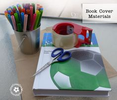 Materials needed for DIY Paper Book Cover