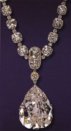 The 47.69 carat Star of South Africa Diamond mounted in a brooch by Cartier in 1910