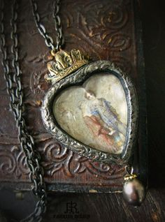In the Witchs Wood   Sacred Heart Pictorial by ParrishRelics, $74.00