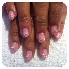 Instagram: @PixieDustSDB Simple nailart in natural nails. #nailart #nails