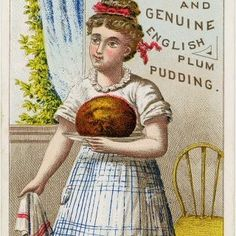 Hurrah For the Pudding Cooking Clipart, Figgy Pudding, Girls Clips, Mince Meat, Christmas Pudding, Good Cheer, Meals For One, Vintage Advertisements, Brown And Grey