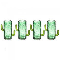 Cactus Shot Glasses - Set of 4