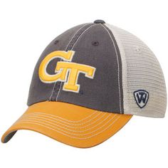 9df12e3835b73 GA Tech Yellow Jackets Top of the World Offroad Trucker Adjustable Hat -  Gray Gold