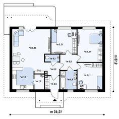 Проект дома Z69 dk - план-схема 1