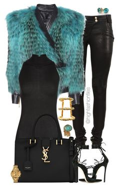 A fashion look from January 2017 featuring fur moto jacket, La Perla and Balmain. Browse and shop related looks. Diva Fashion, Fashion Stylist, Womens Fashion, Fashion Design, Hot Outfits, Fashion Outfits, Denim Outfits, Fashionable Outfits, Party Outfits