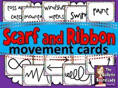 Scarf and Ribbon Movement Cards  Can be used with any kind of music.  What a fun brain break! $