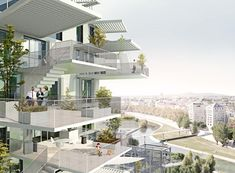 """This magical, tower is set to rise in Montpellier, France, after Japanese architect Sou Fujimoto won a competition to design it this week. L'Arbre Blanc, or """"the White Tree. Cantilever Architecture, Architecture Design, Japanese Architecture, Classical Architecture, Amazing Architecture, Landscape Architecture, Biomimicry Architecture, Sou Fujimoto, High Rise Apartments"""