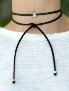 Wear this simple and dainty black choker necklace to instantly give any outfit a 90s vibe. It's an affordable accessory.