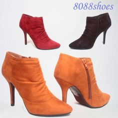 Slouchy-Stiletto-Heel-Zipper-Pointy-Toe-Pump-Booties-Shoes-Size-6-11-NEW