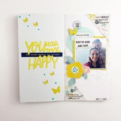 Traveler's Notebook spread by @hebaalsibai (FYC At Home stamp set)