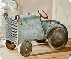 fantastic & funky:  blue tractor/truck toy