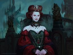 """""""Heir of Falkenrath"""" from the Magic the Gathering set SHADOWS OVER INNISTRAD, art by Jason Rainville"""