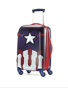 110589e0c003 Marvel Captain America Hardside Spinner Suitcase by American Tourister -  Marvel Captain America Print