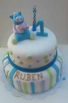 Gâteau réalisé pour l'anniversaire d'un petit Ruben - Photo transmise à la boutique Le Petit Autre Chose à Dunkerque, revendeur de la marque Moulin Roty