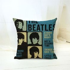 Cushion Cover Decorative throw pillow cover the beatles music CD let it be Love Lyrics for home
