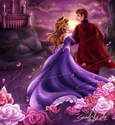 Aurora in purple with Phillip