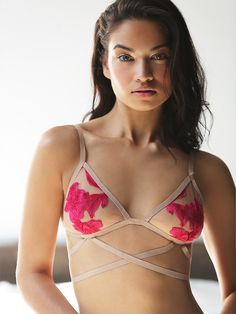 SKIVVIES by For Love & Lemons Orchid Bondage Bralette at Free People Clothing Boutique