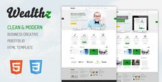 Wealthz HTML template - updated!!!  add portfolio filter and fixed gap on breadcrums area, check it out!!!