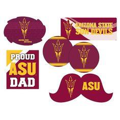 Arizona State Sun Devils Proud Dad 6-Piece Decal Set, Multicolor