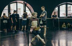 "© Katerina Kravtsova Катерина Кравцова  Sarah Lamb and Matthew Golding (The Royal Ballet), ""Romeo and Juliet"" choreography by Sir Kenneth MacMillan, rehearsal at Vaganova Ballet Academy, Saint Petersburg, Russia, 2016 Dance Open Ballet Festival"