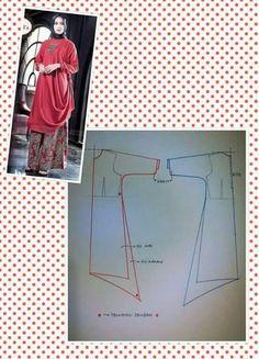 Lagenlook, Arty & non-Mainstream Inspiration & Chat Abaya Pattern, Top Pattern, Sewing Lessons, Sewing Hacks, Clothing Patterns, Sewing Patterns, Frocks For Girls, Dress Making Patterns, Pattern Cutting