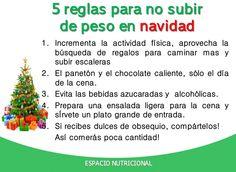 5 reglas para no subir de peso en Navidad