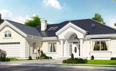 Wizualizacja budynku według projekt domu Willa Parkowa
