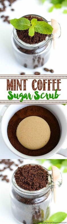 Peppermint Coffee Sugar Scrub - A Pumpkin And A Princess
