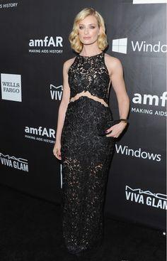 Beth Behrs in Patricia Bonaldi dress at the amfAR LA Inspiration Gala