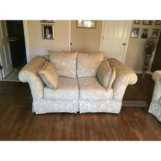 This set was bought when I re-did my house and I fell in love with it. I am having some construction done and I will no. Small Couch, Couch And Loveseat, Sofa Shop, My House, Love Seat, Construction, Furniture, Design, Home Decor