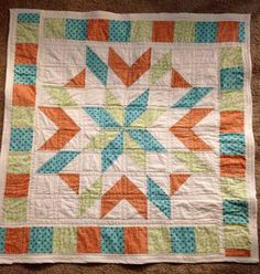 Gender neutral baby quilt by MMC