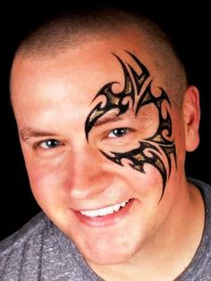 Tribal Face Painting Design.