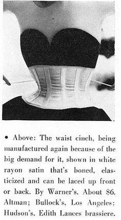"""Warner's """"New Look""""  waist clincher Harper's Bazaar Aug 1951"""
