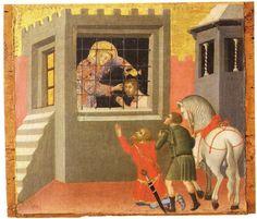 Bartolo di Fredi, San Lorenzo che battezza il proprio carceriere, c. 1370