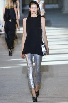 Pantalone silver metallizzato Costume National