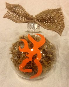 Deer hunting browning buck mount moss camo camouflage hunter hunting Christmas ornament moss burlap gift on Etsy, $15.00