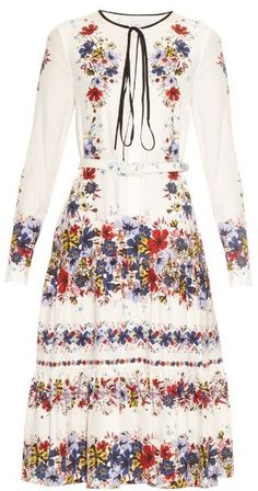 ERDEM Carmel silk-crepe Carmel Flora-print dress